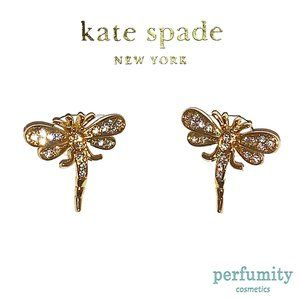 Kate Spade Vintage Dragonfly Golden Earrings NEW